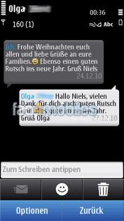 SMS in DIalogansicht