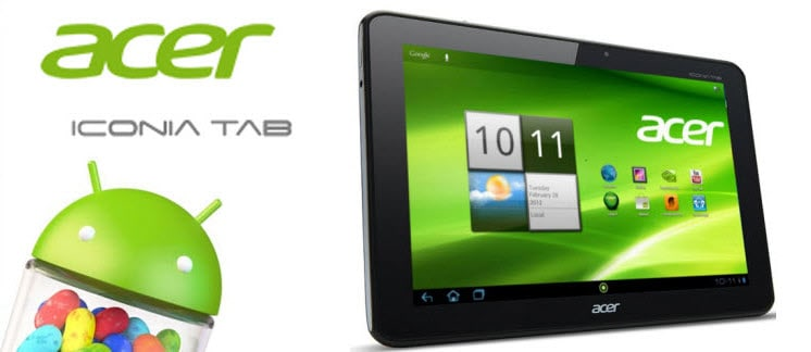 Acer Iconia Tab Android 4.1 Jelly Bean