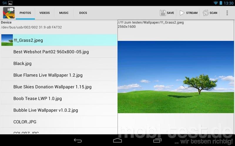 Google Nexus 7 OTG Kabel USB Speicher (2)