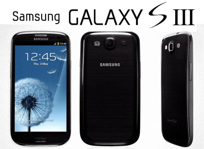 Samsung Galaxy S3 Black schwarz Banner