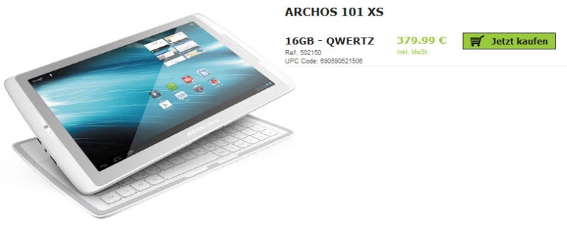 Archos 101 XS Banner