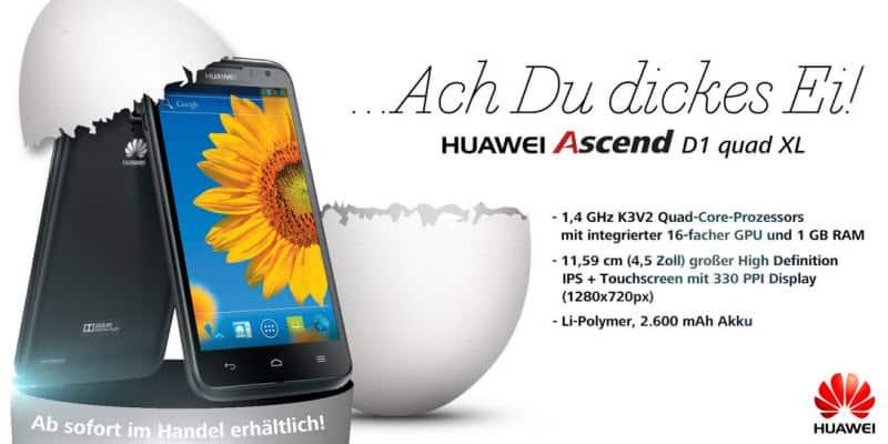 Huawei Ascend D1 quad XL Banner