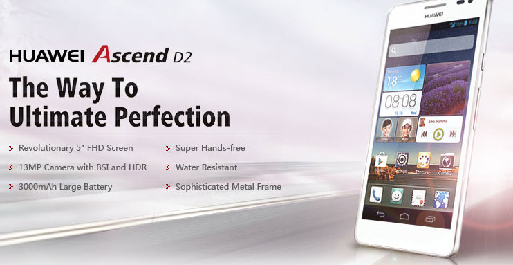 Huawei Ascend D2 Banner