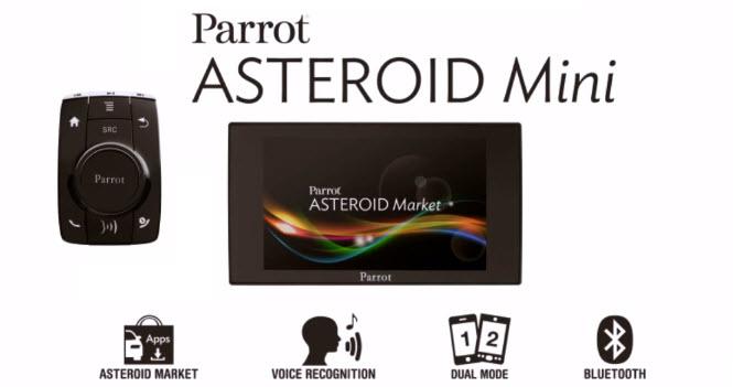 parrot asteroid mini eine freisprechanlage mit android. Black Bedroom Furniture Sets. Home Design Ideas