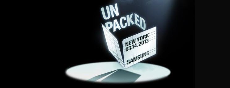 Samsung Unpacked 2013 Banner