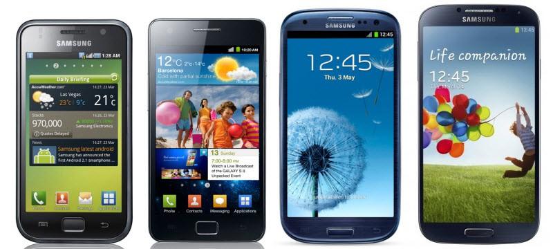 Galaxy S4 Verglech