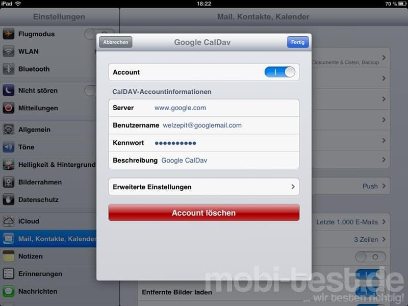 Google Kalender iOS synchronisieren FAQ2