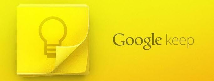 Google Keep Banner