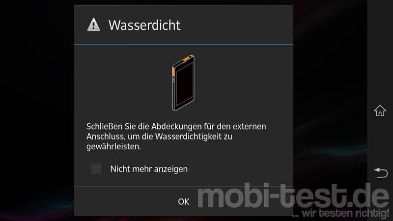 Sony Xperia Z Wasserdicht