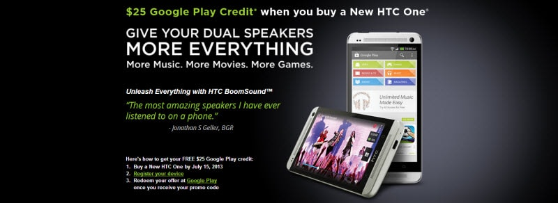 HTC One Promo Banner