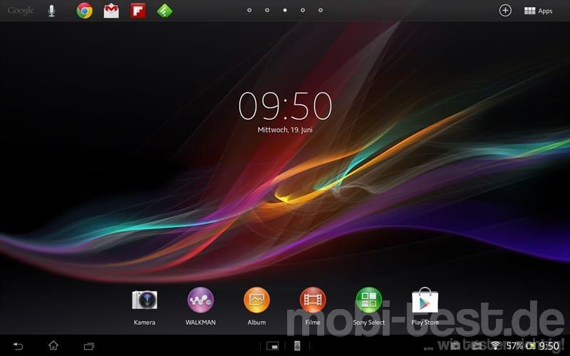 Sony Xperia Tablet Z Homescreen (1)