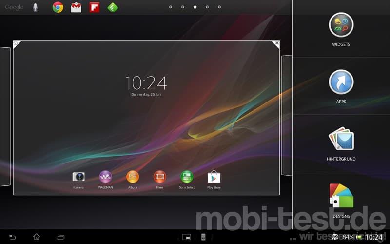 Sony Xperia Tablet Z Homescreen (4)