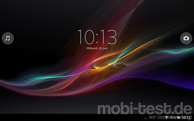 Sony Xperia Tablet Z Lockscreen