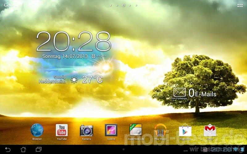 ASUS MeMo Pad Smart 10 ME301T Homescreen (3)