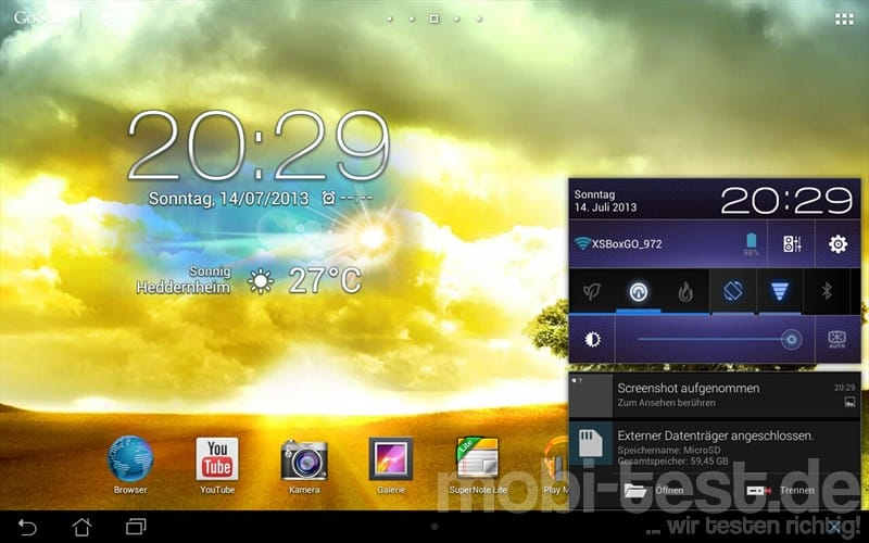 ASUS MeMo Pad Smart 10 ME301T Homescreen (4)