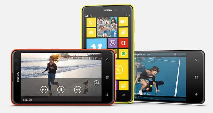 Nokia Lumia 625 Frben