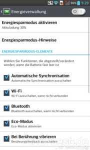 LG Optimus G Energiesparen