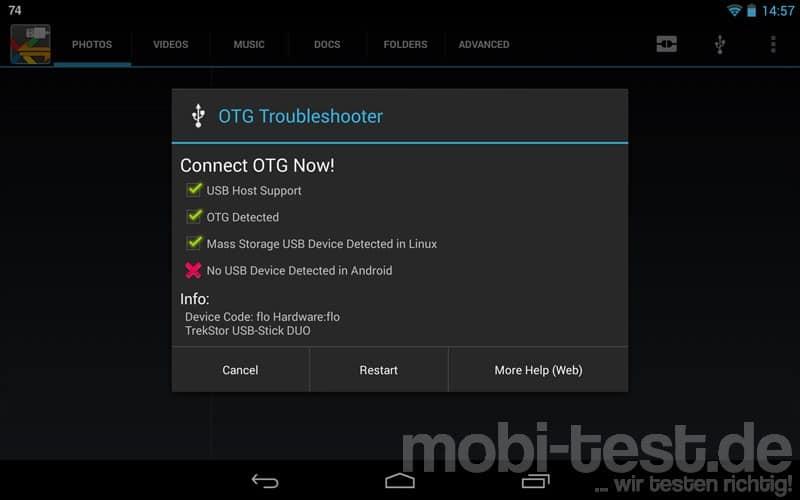 Nexus 7 neu OTG