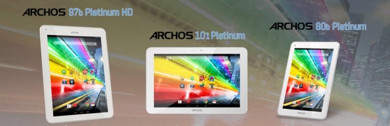 Archos Platinum Serie Banner
