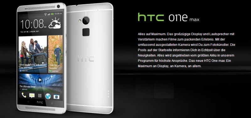 HTC One Max Banner
