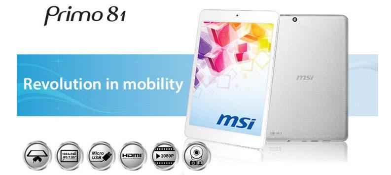 MSI Primo81_Banner