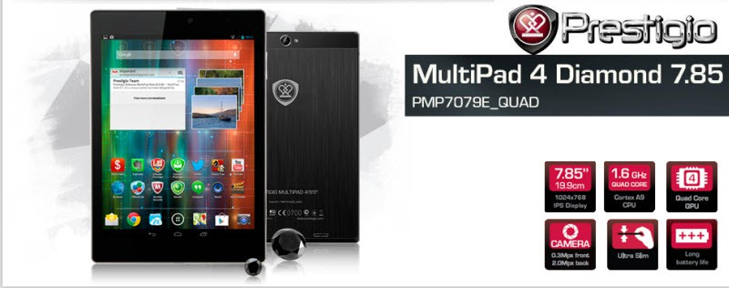 Prestigio MultiPad Diamond 7.85 Banner