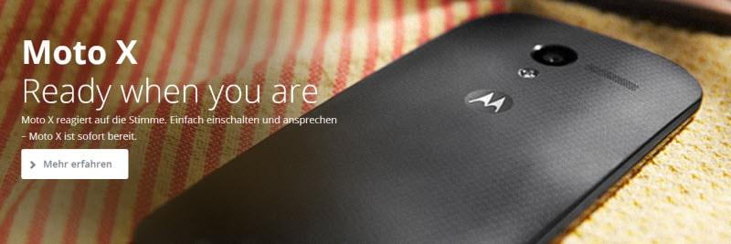 Motorola Moto X Banner