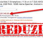 Moto X – verschoben und noch vor dem Start sinkt der Preis um 50 Euro