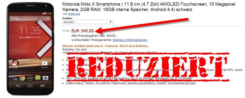 Motorola Moto X Preis