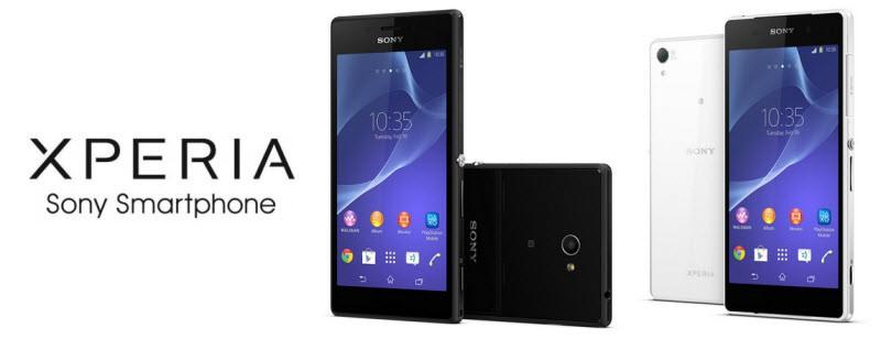 Sony Xperia Z2 Xperia M2 Banner