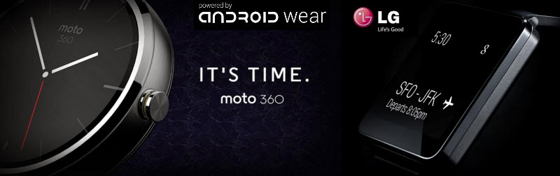 Android Wear Motorola 360 LG G Watch