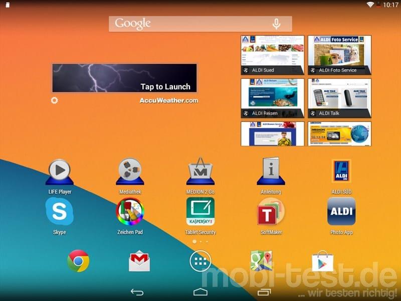 Medion Lifetab S7852 Screenshot