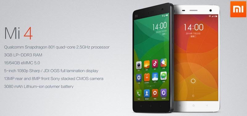 Xiaomi Mi4 Banner