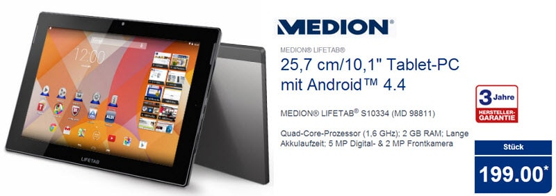 Medion Lifetab S10334 MD 98811 Banner