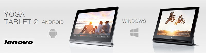 Lenovo Yoga Tablet 2 Banner