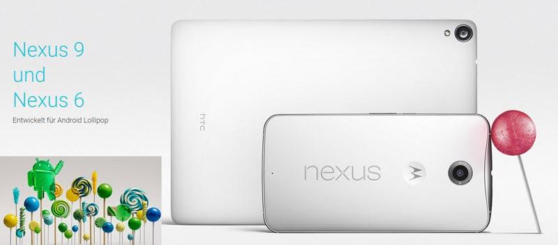 Nexus 6 Nexus 9 Banner