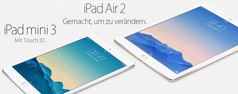 iPad Mini 3 iPad Air 2 Banner