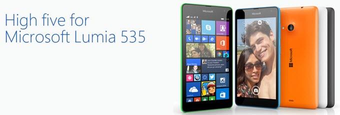 Microsoft Lumia 535 Banner
