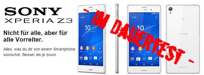 Sony Xperia Z3 Banner