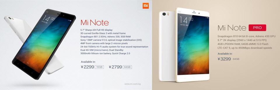 Xiaomi Mi Note Pro Banner