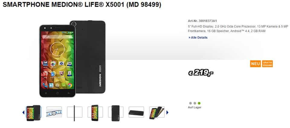Medion Life X5001 Banner