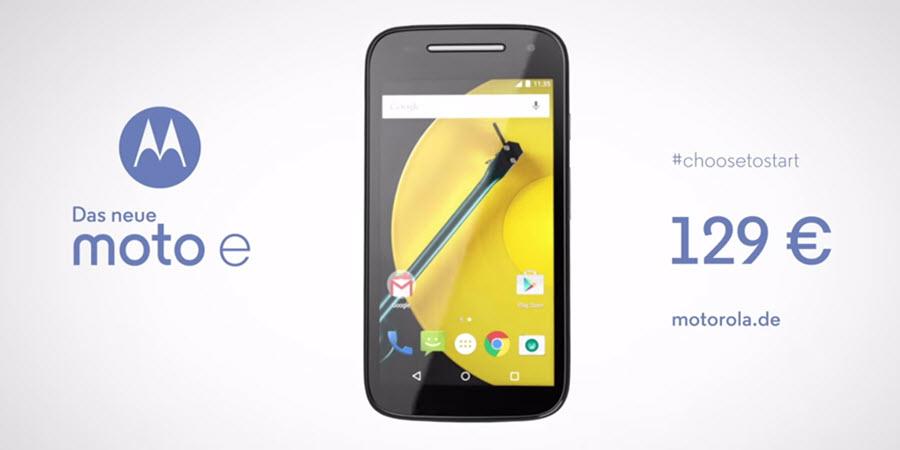 Motorola Moto E (2015) Banner