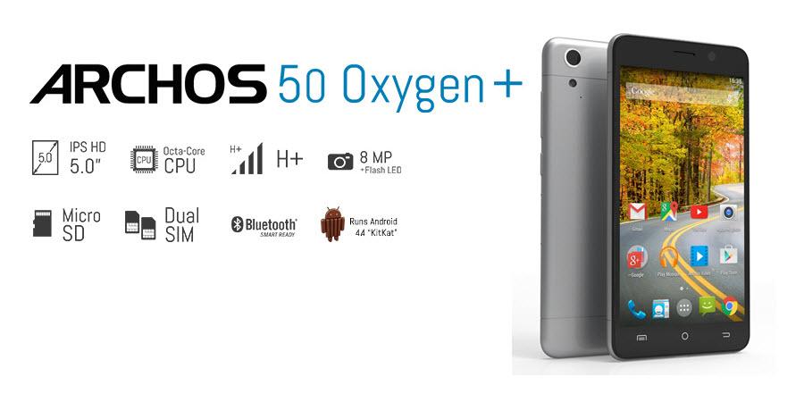 ARCHOS 50 Oxygen Plus Banner