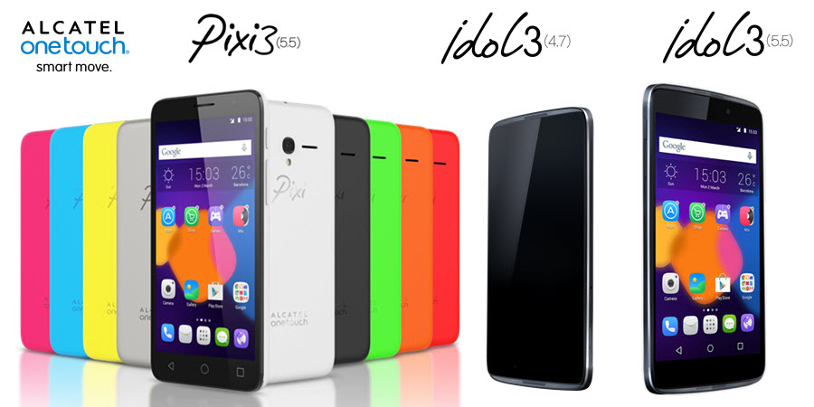 Alcatel Idol 3 Pixi 3 Banner