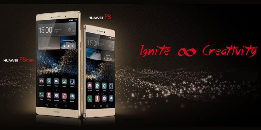 Huawei P8 und P8 Max Banner