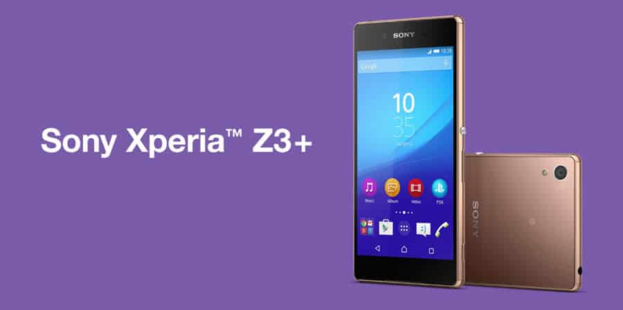 Sony Xperia Z3+ Banner