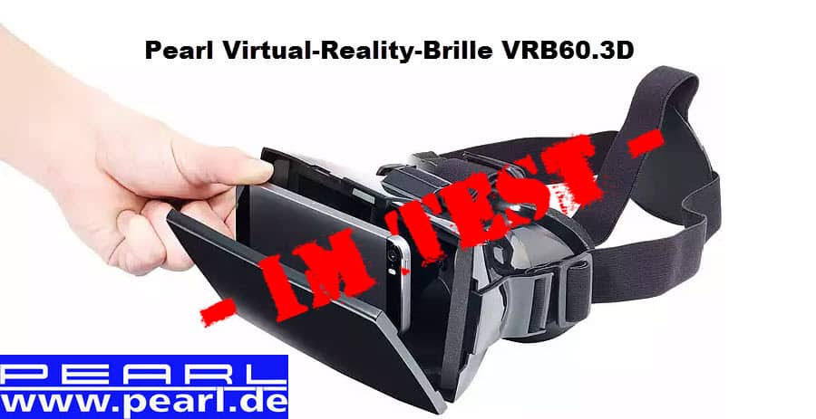 PEARL Virtual-Reality-Brille VRB60.3D Banner