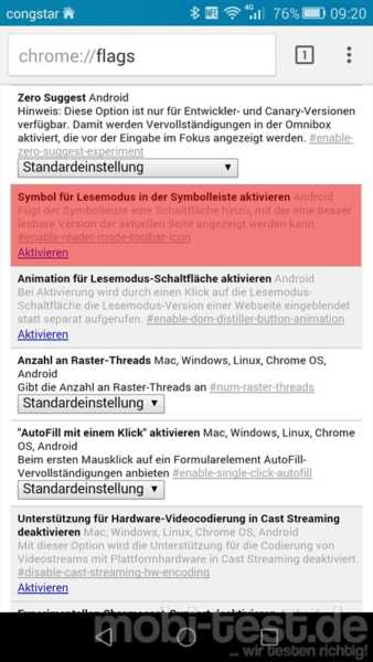 Android Chrome Lesemodus (1)