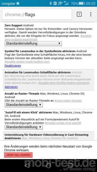 Android Chrome Lesemodus (2)