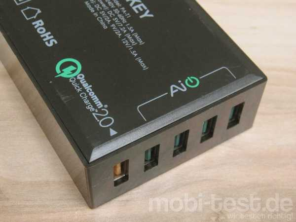 Aukey PA-T1 Quick Charge 2.0 Ladegerät (4)